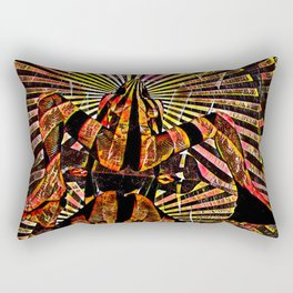 6141-KMA Powerful Woman Brings Life Sensual Abstract Art Rectangular Pillow