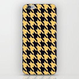 Yellow Black Houndstooth iPhone Skin