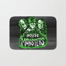 House of Monsters Phantom Frankenstein Dracula classic horror Bath Mat
