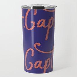 Oh My Captian Poem Blue Red Travel Mug