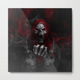Skulls N' Smoke Metal Print