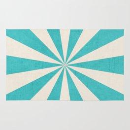 aqua starburst Rug
