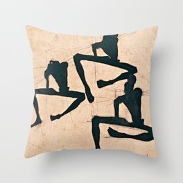 Egon Schiele - Composition With Three Male Throw Pillow