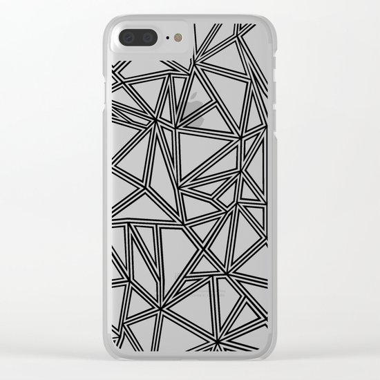 Abstract New Black on White Clear iPhone Case