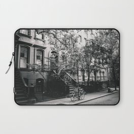 New York City - West Village Street and Bicycles Laptop Sleeve