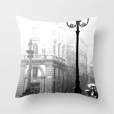 Florence in the Spring Rain Throw Pillow