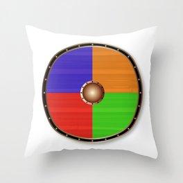 Round Viking Shield Throw Pillow