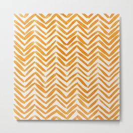 Zigzag - orange Metal Print