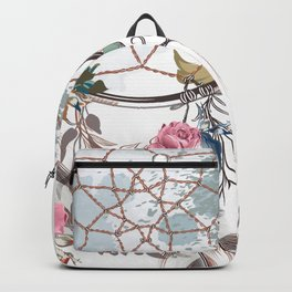 Boho stylish design. All good things are free and wild Backpack
