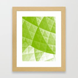 Greenery abstract pattern Framed Art Print