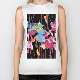festive abstract bouquet with light Biker Tank