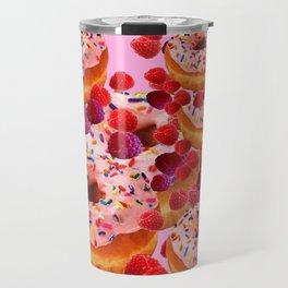 DELICIOUS PINK PASTRY & RASPBERRIES DESSERTS Travel Mug