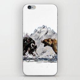 Bull and Bear iPhone Skin