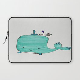 Whale you be my Valentine? Laptop Sleeve