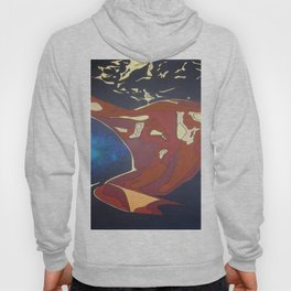 Backview of A Young Woman Dancing In A Night Club Hoody