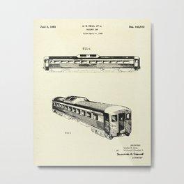 Railway Car-1951 Metal Print