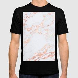 Rose Gold Blush Marble T-shirt