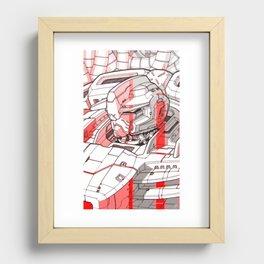 Red Mecha Recessed Framed Print