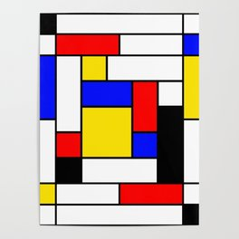 Mondrian Geometric Art 2 Poster