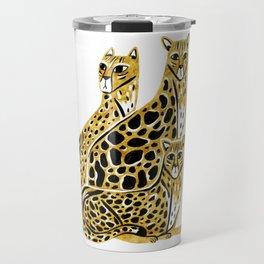 Gold Cheetahs Travel Mug