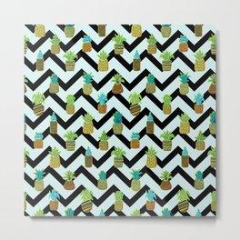 Pineapples Pattern Cute 804 Metal Print
