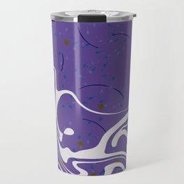 Violet Marbled Waves Swirled Effect Design Travel Mug