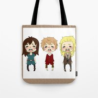 kili Tote Bags featuring kili cry by Selis Starlight