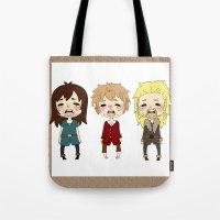 kili Tote Bags featuring kili cry by Selis Starlight