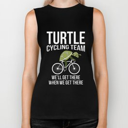 turtle cycling team well get there  race Biker Tank