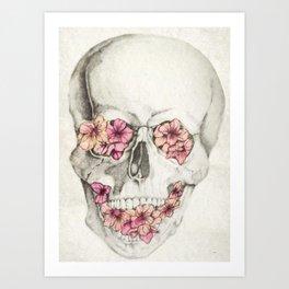 Cereza Skull Art Print