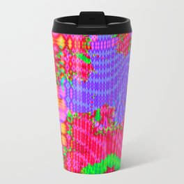 Funky colors and patterns Travel Mug