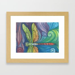 Groovy Dragonfly Spirit Framed Art Print