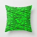 Bright Neon Green and Black Tiger Stripes by podartist
