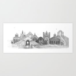 Wherein the little queen and her friends make homes for those in need Art Print