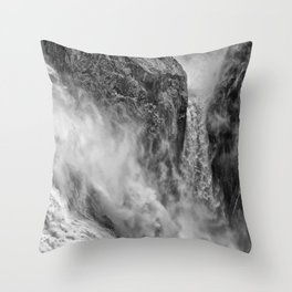 Power in the falls Throw Pillow