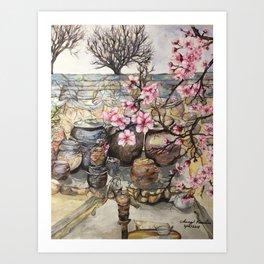 Spring cherry blossoms in Korea Art Print