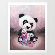 Candie and Panda Art Print