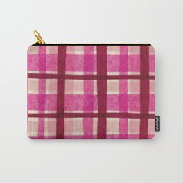 Tissue Paper Plaid - Pink Carry-All Pouch