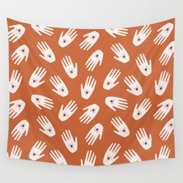 See Hold Love | Terracotta & Pink Wall Tapestry