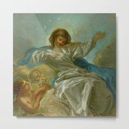 """François Boucher """"The Assumption (study)"""" Metal Print"""