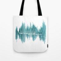 oscar wilde Tote Bags featuring OSCAR by barbaraGLEN