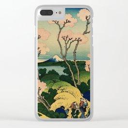 """Hokusai (1760–1849) """"Goten-yama-hill, Shinagawa on the Tōkaidō"""" Clear iPhone Case"""