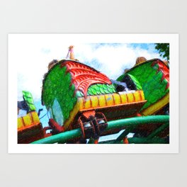Chinese Dragon Ride 4 Art Print