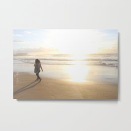First Stepping Out onto the Beach ; Washed in White Light  Metal Print
