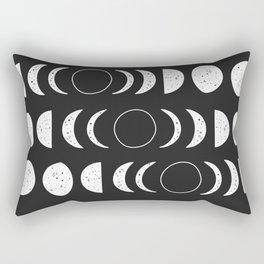 Moon Phases ( Black&White ) Rectangular Pillow