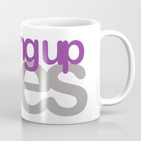 asexual Mugs featuring coming up aces by Brizy Eckert