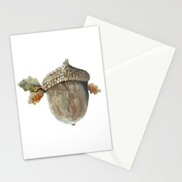Fall acorn and oak leaves Stationery Cards