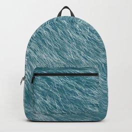 Blue-Green Fur Backpack