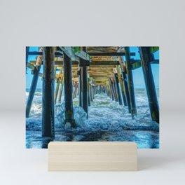 Under San Clemente Pier II Mini Art Print