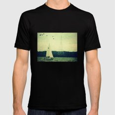 Come Sail Away Black Mens Fitted Tee SMALL